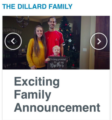Jill Dillard pregnancy announcement