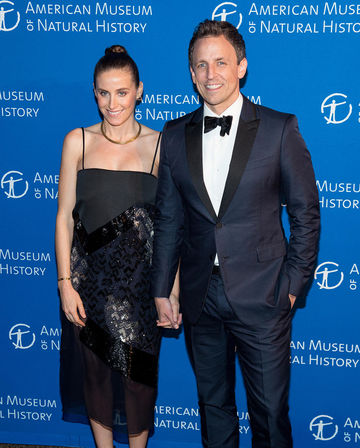 Seth Meyers and Alexi Ashe at Natural History Museum gala 2015