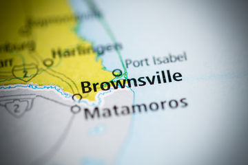 brownsville, texas on the map