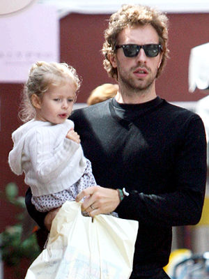 Chris Martin and daughter Apple