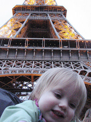Cleo at the Eiffel Tower