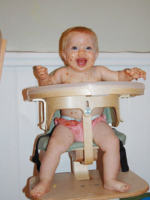 Cleo in Highchair