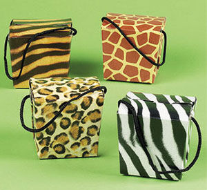 Wild Things party favor boxes