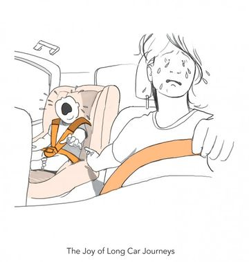 Doodle Diary of a New Mom - Car Ride