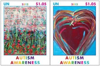 UN Debuts Autism Awareness Stamp 29582