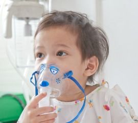 Child in hospital with respiratory illness
