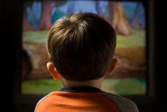 Young Child Watching Television
