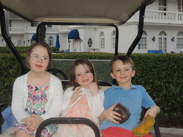 Vacation with our three children, including Penny, who has Down syndrome