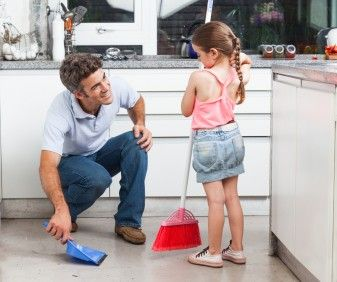 Father Dad Daughter Chores
