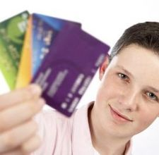 Teen with credit card