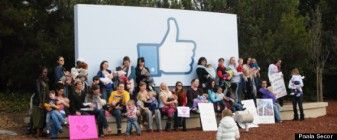 Leave Our Photos Alone! Breastfeeding Moms Stage Facebook Protest 29486