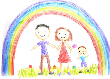 kids drawing of family - Kids Drawings Images