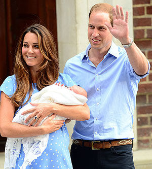 Prince William and Duchess Kate with George Alexander Louis