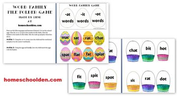 Easter Word Family Game -at -it -ot