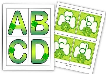 Shamrock Letters -Upper-Lower Case