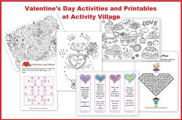Valentine Activities ages 3-7