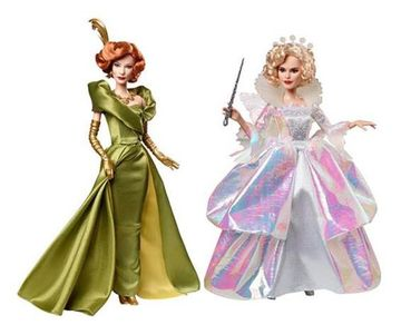 Lady Tremaine and Fairy Godmother dolls