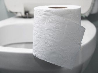 toilet and toilet paper