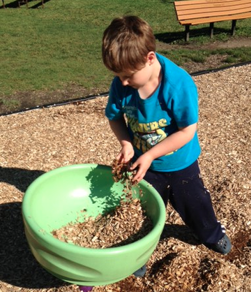 Liam and Woodchips