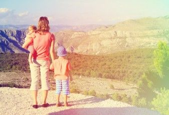 family at national park