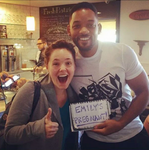 Coolest Pregnancy Announcement Ever—Thanks to Will Smith!