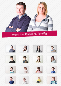 The Radfords of England have 16 Kids with a 17th on the Way!