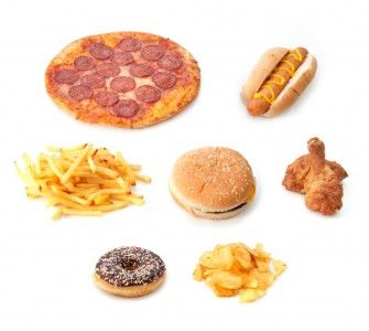 junk food pizza hot fogs burgers fries fried chicken donuts chips