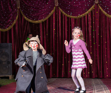 kids acting in a theater show