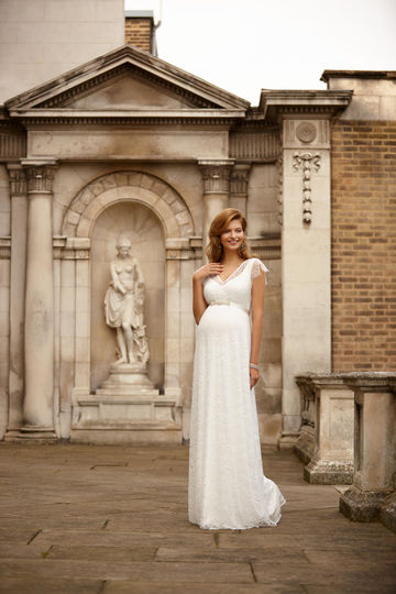 Kristin Gown Long Ivory