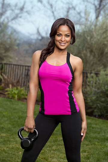 laila ali with free weight