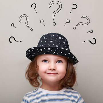 young girl with lots of questions