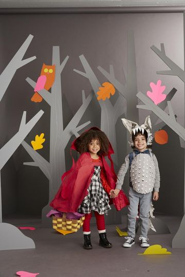 Homemade storybook character costumes parents little red riding hood and the big bad wolf solutioingenieria Images