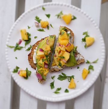 Tropical Toast with a Cayenne Kick