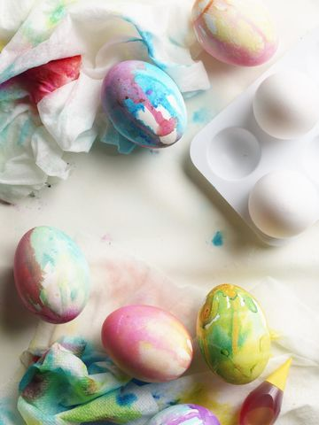 Decorate Eggs Drip-Dyed