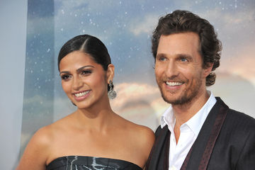 Matthew McConaughey with beard and Camila Alves