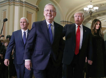 Mitch McConnell and President Trump healthcare bill