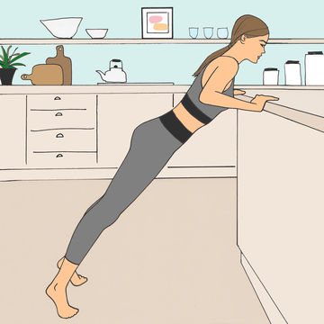 Gear Toting Push Up Illustration