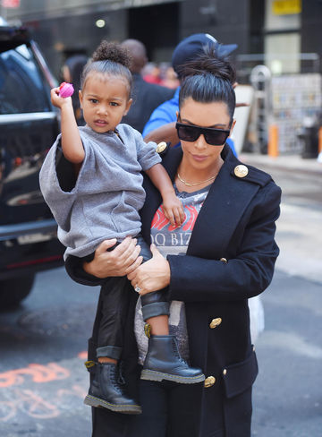 North West and mom Kim Kardashian