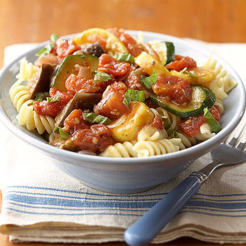 Ratatouille with Pasta Spirals recipe image