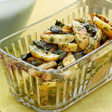 Roasted Potato and Pepper Salad with Cilantro Salsa recipe image