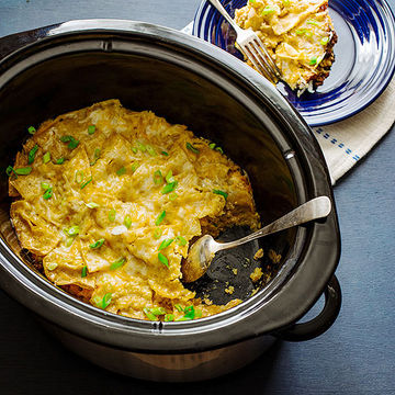 Stealthy Slow-Cooker Chilaquiles Casserole recipe image
