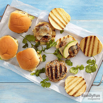 Cilantro-Lime Bitty Burgers recipe image