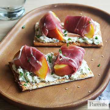 Prosciutto and Peach Tartines recipe image