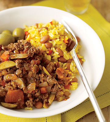 Picadillo with Rice & Beans recipe image