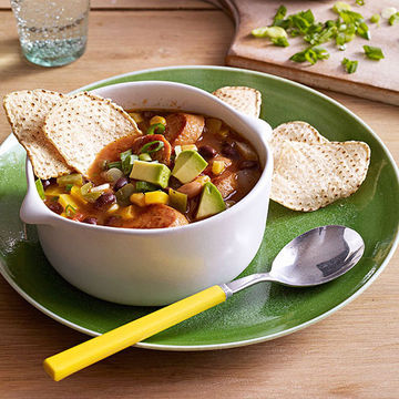 Sausage and Bean Tortilla Soup recipe image
