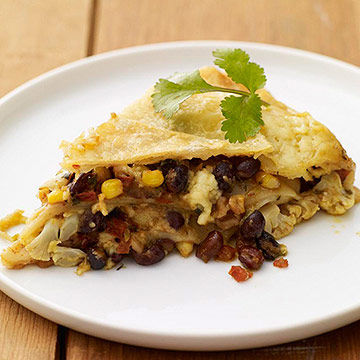 Vegetarian Mexican Lasagna recipe image