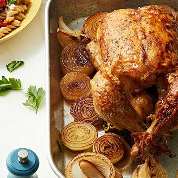 Onion Roasted Chicken with Gravy recipe image