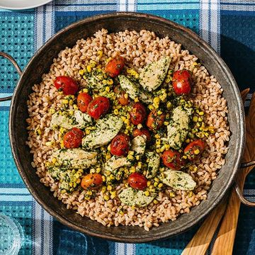 Pesto Chicken With Farro recipe image