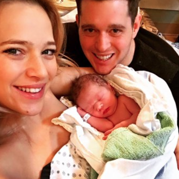 Michael Buble and Wife Introduce Baby Elias Twitter