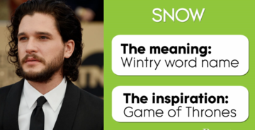 Pop Culture Baby Names image_Jon Snow